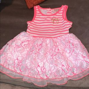 Juicy Couture Neon Pink & Lace Dress Size 12 Month